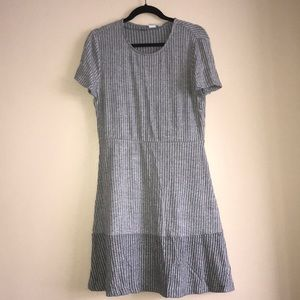 New Gray Cotton Dress GAP Size L
